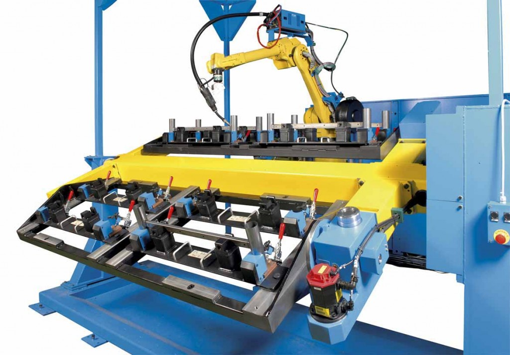 Client GRUHIER - mobilier metallique Robot FANUC 1207iL - barillet M2630 Photographe JSR